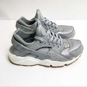Nike Air Huarache Run Premium Wolf Grey Silver 7.5